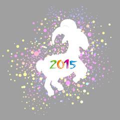 羊の年賀状 2015