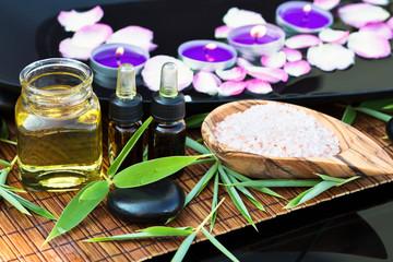 Spa ingredients (oil, scrub)