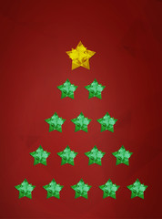 Christmas wish card vector illustration
