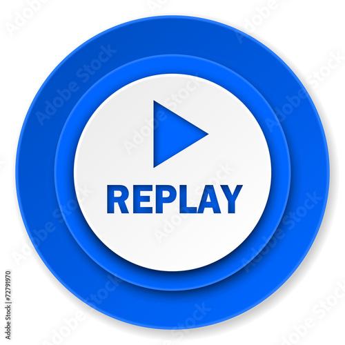 replay icon  Stock pho...