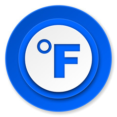 fahrenheit icon, temperature unit sign