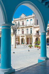 Colonial architecture at Plaza Vieja in Havana