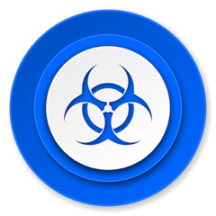biohazard icon, virus sign