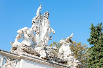 Fountain of Neptune, Piazza del Popolo, Rome, Italy