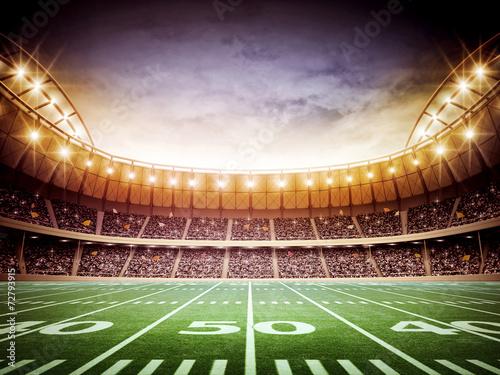 Foto op Canvas Stadion light of american stadium