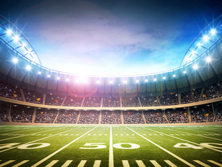 light of american stadium
