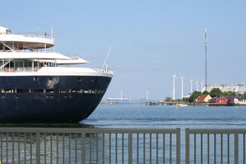 Cruise Ship and Wind Farm, Copenhagen