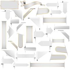 weiße Designelemente