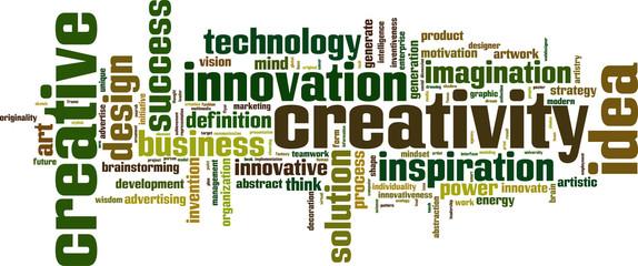 Creativity word cloud concept. Vector illustration