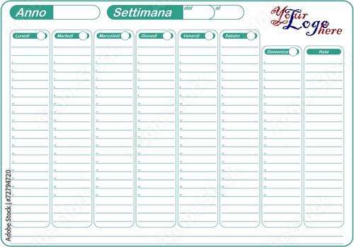 Planner planning calendario da tavolo modificabile immagini e vettoriali royalty free su - Planning settimanale da tavolo ...