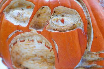 Halloween pumpkin with ants
