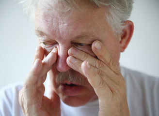 Man has nasal congestion