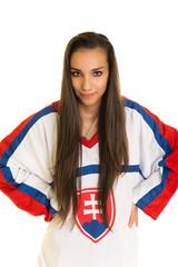 Slovakian Sport Fan Woman