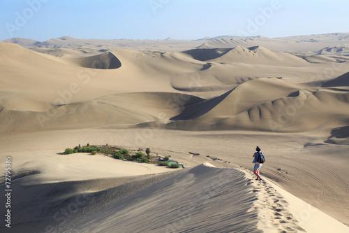 Tuinposter Zandwoestijn Atacama Desert, Oasis of Huacachina, Peru