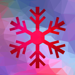 Abstract Christmas geometric snowflake