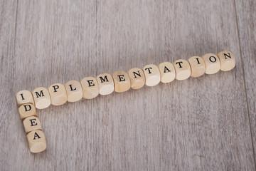 Idea Implementation Blocks On Table