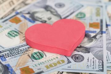 Heart Shape On Dollar Bills