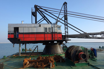 Crane on boat