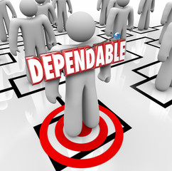 Dependable Word Best Reliable Worker Staff Employee Org Chart