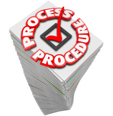 Process Procedure Workflow Paperwork Stack Busy Task Job