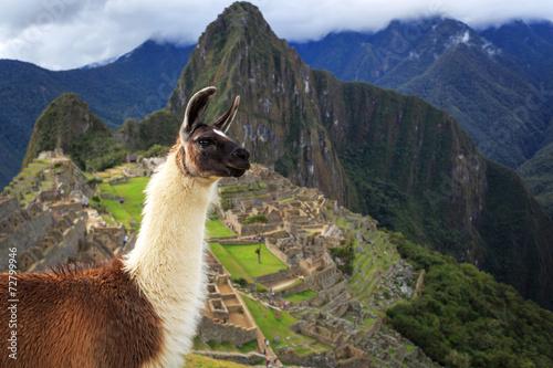 Machu Picchu, Peru, UNESCO World Heritage Site. One of the New S - 72799946