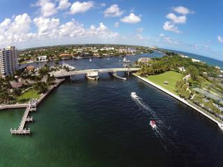 Costline of Florida aerial view
