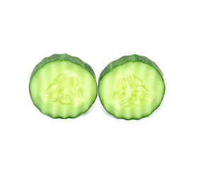 Cucumbers  with white background