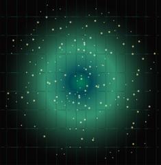 Dot light grid blue background