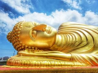 Golden reclining Buddha , Thailand
