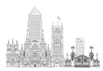 Famous buildings of the world, Sketch collection