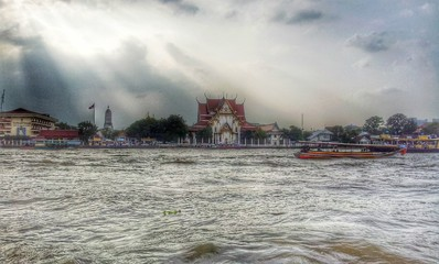 Chao Phraya river , Bangkok , Thailand