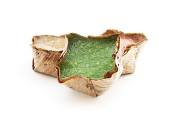 Chinese pudding with coconut Sweetmeat in basket