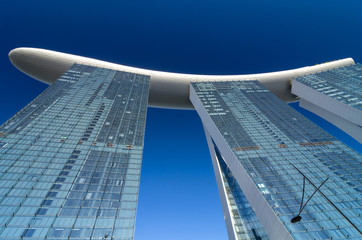 Marina Bay Sands on blue sky background, SINGAPORE