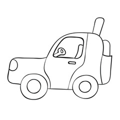 Sketch car isolated on a white background.