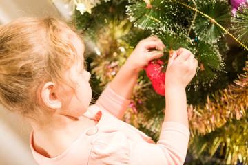 Beautiful little decorating Christmas tree