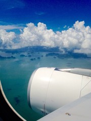 Phuket view from airplane