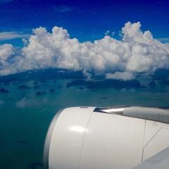 Phuket view from airplane