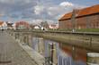 canvas print picture - Historischer Hafen, Tönning