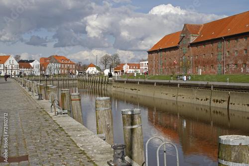 canvas print picture Historischer Hafen, Tönning