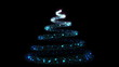 Glowing particles with trail forming christmas tree HD