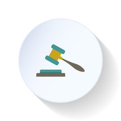 Hammer of justice flat icon
