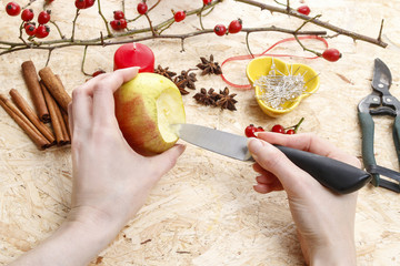 How to make apple candle holders for christmas