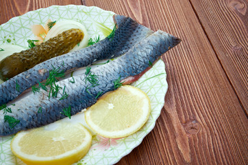 Typical Dutch salted herring