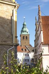 Bad Salzuflen Blick auf die Stadtkirche