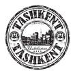 Tashkent grunge rubber stamp