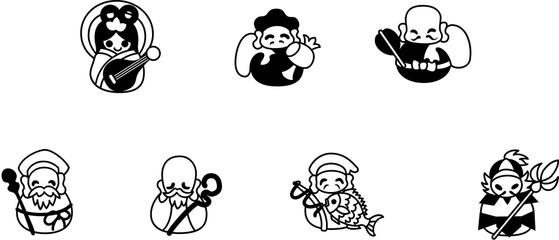 コロコロとしたダルマさんみたいに可愛い七福神。