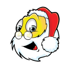 Cheerful Santa Claus smiley