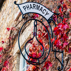 Old vintage Pharmacy sign