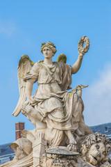 Sculpture at Chateau Versailles near Paris in France