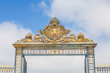 Gate at Chateau Versailles near Paris in France